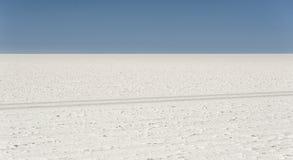 Salar de Uyuni är störst saltar framlänges i världsUNESCOvärldsarvet - Altiplano, Bolivia Royaltyfria Foton