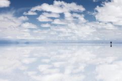 Salar de Uyuni, αλατίζει το επίπεδο στη Βολιβία Στοκ Φωτογραφίες