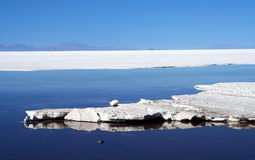 Salar De Uyuni. Biggest salar in the world stock photos