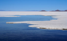 Salar De Uyuni. Biggest salar in the world Stock Photo