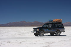 On the Salar de Uyuni Stock Photography