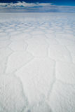 Salar de Uyuni. White of the Salt flat of Bolivia Royalty Free Stock Photos