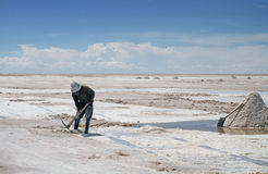 Salar de Uyuni in Bolivia. Royalty Free Stock Photo