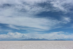 Salar de Uyuni, Bolivia. Salar de Uyuni in Bolivia, Sunny day, Andes background Royalty Free Stock Image
