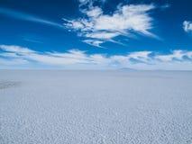 Salar de Uyuni in Bolivia. View at Salar de Uyuni in Bolivia stock image