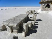 Salar de Uyuni, Bolivie. Image stock