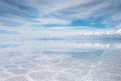 Salar de Uyuni desert, Bolivia. Salar de Uyuni salt white flats desert, Andes Altiplano, Bolivia Royalty Free Stock Image