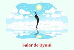 Salar de Uyuni. Illustration with Bolivia landmark - Salar de Uyuni stock illustration
