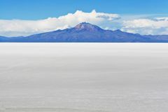 Salar de Uyuni Landscape in Bolivian Andes Stock Photos