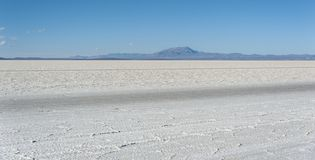 Salar de Uyuni is largest salt flat in the World UNESCO World Heritage Site - Altiplano, Bolivia Royalty Free Stock Photo