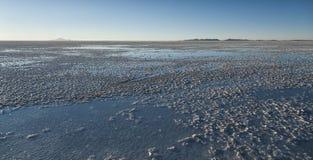 Salar de Uyuni near Colchani. It is the largest salt flat in the World UNESCO World Heritage Site - Altiplano, Bolivia stock images