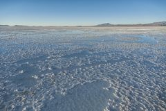 Salar de Uyuni near Colchani. It is the largest salt flat in the World UNESCO World Heritage Site - Altiplano, Bolivia stock photography