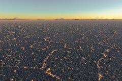 Salar de Uyuni, sala el plano en Bolivia imagen de archivo