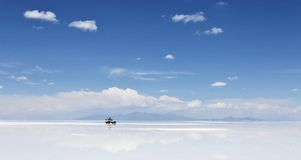 Salar de Uyuni, Salt flat in Bolivia Royalty Free Stock Image