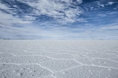 Salar de Uyuni (Salt Flat), Bolivia Royalty Free Stock Photo