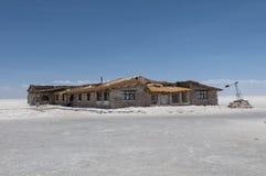 Salar de Uyuni - salt hotell Fotografering för Bildbyråer