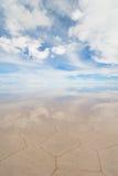 Salar de uyuni, salt lake in bolivia Royalty Free Stock Photo