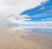 Salar de uyuni, salt lake in bolivia Stock Photos