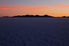 Salar de Uyuni, salt lake, Bolivia, sunset Stock Images
