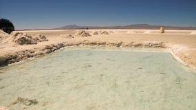 Salar de Uyuni-Salzseereflexion stockfotos