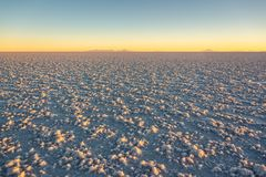 Salar de Uyuni Uyuni salt flats at sunset, Potosi, Bolivia. South America royalty free stock photos