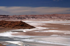 Salar near the Moon Valley Stock Image