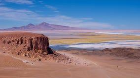Salar på den nationella reserven för Los-flamenco, nära San Pedro de Atacama, Chile Arkivbilder