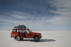 Salar Uyuni adventure. Royalty Free Stock Photography