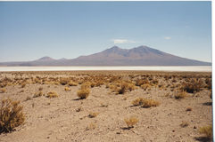 Salar white desert Royalty Free Stock Photos
