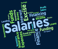 Salaries Word Represents Remuneration Wage And Workers. Salaries Word Showing Wage Payroll And Pay Royalty Free Stock Images
