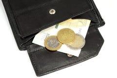 Salario mínimo y dinero alemanes Imágenes de archivo libres de regalías
