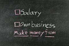 Salaris of eigen zaken stock foto's