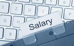 Salaris - omslag op computertoetsenbord royalty-vrije stock fotografie