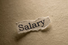 Salary. Picture of a word salary stock photography