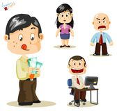 Salary. Business People Royalty Free Stock Image