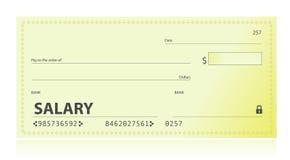 Salary check illustration design Royalty Free Stock Image
