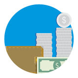 Salary icon flat Stock Images