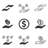 Salary icon set. Salary vector icons set. Black illustration isolated on white background for graphic and web design Stock Illustration