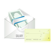Salary illustration design Royalty Free Stock Images