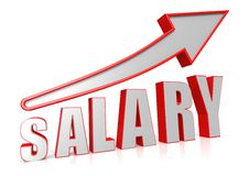 Salary increase. A   rendered artwork with white background Royalty Free Stock Photo