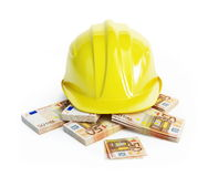 Salary in industry (workers wages) Royalty Free Stock Image