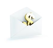 Salary mail dollar Stock Photos