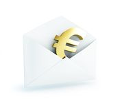 Salary mail euro Royalty Free Stock Image