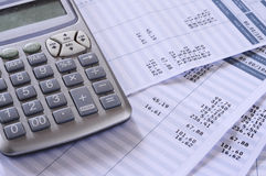 Salary payroll detail Stock Images