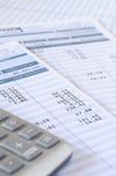 Salary payroll detail Royalty Free Stock Photography