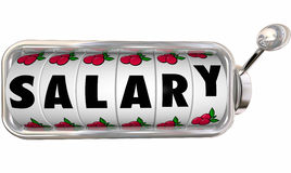 Salary Slot Machine Wheels Dials Job Income Pay Earnings