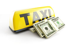 Salary taxi driver Royalty Free Stock Images