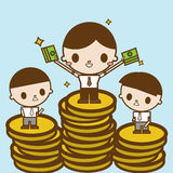 Salary variation. Business concept cartoon illustration Royalty Free Stock Image