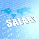 Salary world map Royalty Free Stock Image