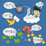 Salaryman infographics Royalty Free Stock Photography